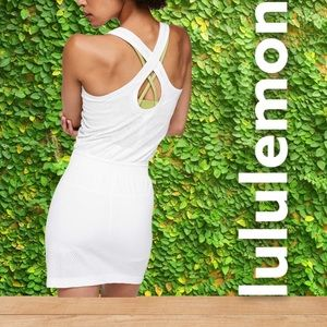 lululemon Flex On The Court Dress. White. Size 6